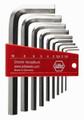 Wiha 35191 - L-Key Hex Nickel Short-Arm 9 Pc Set Metric 1.5-10mm