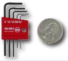 Wiha 35392 - Mini L-Key Short Hex Metric 5 Pc Set .07-2.0mm