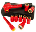 "Wiha 31590 - Insulated 3/8"" Drive 10 Pc Socket Set - Metric"