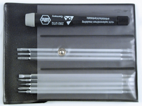 Wiha 26990 System 4 Precision Interchangeable Blade Set 4 Piece Slotted and Phillips