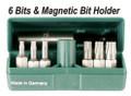 Wiha 71995 - PokitPak - Tamper Resistant Hex Metric Insert Bits In Molded Case 6 Piece Set 2.5-8mm
