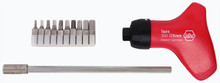 Wiha 28299 - Topra Ratchet Hex Metric 10 Pc Bit Set 1.5-8mm