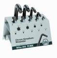 Wiha 36390 - Torx L-Key 9 Piece Set-Stand