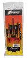 Picture for reference only. Actual product contains sizes listed in description. Bondhus 10645 - Set of 7 Ball End Hex Screwdrivers 5/64-3/16