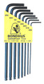 Bondhus 10932 - Set of 8 Ball End Hex L-keys .050-5/32