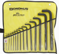 Bondhus 10935 - Set of 15 Ball End Hex L-keys .050-1/2 in in Pouch