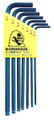 Bondhus 10945 - Set of 7 Ball End Hex L-keys 5/64-3/16
