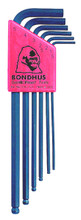 Bondhus 10946 - Set of 6 Ball End Hex L-keys 1.5-5mm