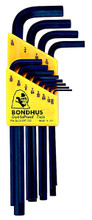 Picture for reference only. Actual product contains sizes listed in description. Bondhus 12132 - Set of 8 Hex L-keys .050-5/32 - Long