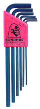 Picture for reference only. Actual product contains sizes listed in description. Bondhus 12192 - Set of 7 Hex L-keys 1.5-6mm - Long
