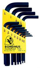 Bondhus 12236 - Set of 12 Hex L-keys .050-5/16 - Short