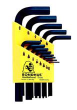 Bondhus 12237 - Set of 13 Hex L-keys .050-3/8 - Short