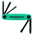 Bondhus 12547 - Set of 5 Utility Fold-up Tools #1 Phillips, #2 Phillips, 1/8 Slotted, 3/16 Slotted, 1/4 Slotted