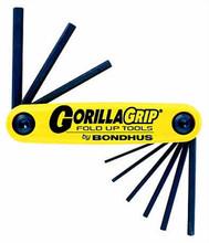 Bondhus 12589 - Set of 9 Hex Fold-up Tools 5/64-1/4