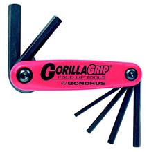Bondhus 12595 - Set of 6 Hex Fold-up Tools 3-10mm