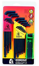 Bondhus 14138 - Triple Pack - Ball L-key Sets 10999, 10937, & GorillaGrip Star Fold-Up Set 12634