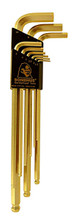 Picture for reference only. Actual product contains sizes listed in description. Bondhus 38046 - Set of 6 GoldGuard Plated Ball End Hex L-keys 1.5-5mm