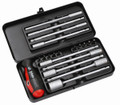 Felo 52707 - 20 pc Smart Engineer Metric Set - 8 Sockets and 10 bits (Phillips, Slotted, Pozidriv, Torx)