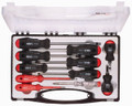 Felo 32558 - 11 pc Slotted, Phillips, & Pozidriv Screwdriver Set - 2 Component Handle with Mains Tester