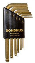 Bondhus 07846 - Set of 6 Mini GoldGuard Ball End Hex L-Keys 1.5 - 5mm