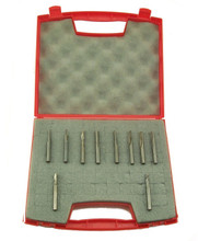 Southeast Tool SE P Set (plastic) - This router bit set contains 10 of the most common bits used in cutting sheet plastics