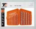 Triumph Drill Bit Set in Folding Plastic Case - Triumph Twist Drill 090614