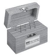 Solid Carbide Single Cut Miniature Bur Set Number 2 SGS BUR-2