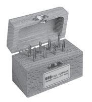 Solid Carbide Double Cut Miniature Bur Set Number 4 SGS BUR-4