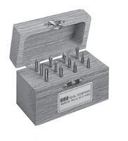 Solid Carbide Double Cut Miniature Bur Set Number 7 SGS BUR-7