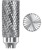 Omega Bur Deep Double Cut Cylinder Shape with End Cut SGS SB-3