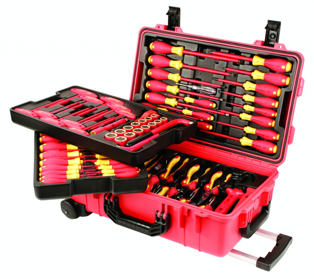 80 Pc Electricians Insulated Tool Set W Deluxe Storage