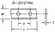 Reversible Insert Knife, End Angle w/ 2 Holes - Southeast Tool SI-401215AL