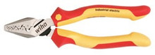"Wiha 32945 - 7"" Insulated Crimping Pliers with Industrial Brushed Finish"