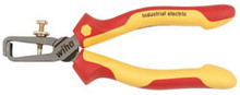 """Wiha 32947 - 6.3"""" Insulated Stripping Pliers With Industrial Brushed Finish"""