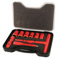 """Wiha 10pc 3/8"""" Drive Insulated Socket Set with T-Handle Driver"""