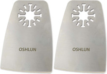 Oshlun MMA-5002 2-Inch Oscillating Tool Flexible Scraper with Uni-Fit Arbor for Fein Multimaster, Dremel, and Bosch (2-Pack) - Oshlun MMA-5002
