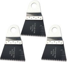 Oshlun MMR-1103 2-2/3-Inch Precision Japan HCS Oscillating Tool Blade for Rockwell SoniCrafter (3-Pack)