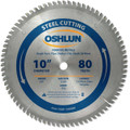 Oshlun SBF-100080 10-Inch 80 Tooth TCG Saw Blade with 5/8-Inch Arbor for Mild Steel and Ferrous Metals