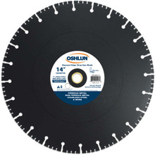 Oshlun SBFD-14 14-Inch Diamond Chop Saw Blade with 1-Inch Arbor (20mm Bushing) for Stainless and Ferrous Metals