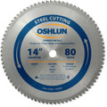 Oshlun SBF-140080 14-Inch 80 Tooth TCG Saw Blade with 1-Inch Arbor for Mild Steel and Ferrous Metals