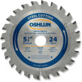 Oshlun SBF-054024 5-3/8-Inch 24 Tooth TCG Saw Blade with 20mm Arbor (5/8-Inch and 10mm Bushings) for Mild Steel and Ferrous Metals