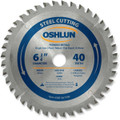 Oshlun SBF-067540 6-3/4-Inch 40 Tooth TCG Saw Blade with 20mm Arbor for Mild Steel and Ferrous Metals