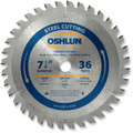 Oshlun SBF-072536 7-1/4-Inch 36 Tooth TCG Saw Blade with 5/8-Inch Arbor (Diamond Knockout) for Mild Steel and Ferrous Metals