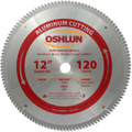 Oshlun SBNF-120120 12-Inch 120 Tooth TCG Saw Blade with 1-Inch Arbor for Aluminum and Non Ferrous Metals