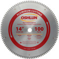 Oshlun SBNF-140100 14-Inch 100 Tooth TCG Saw Blade with 1-Inch Arbor for Aluminum and Non Ferrous Metals