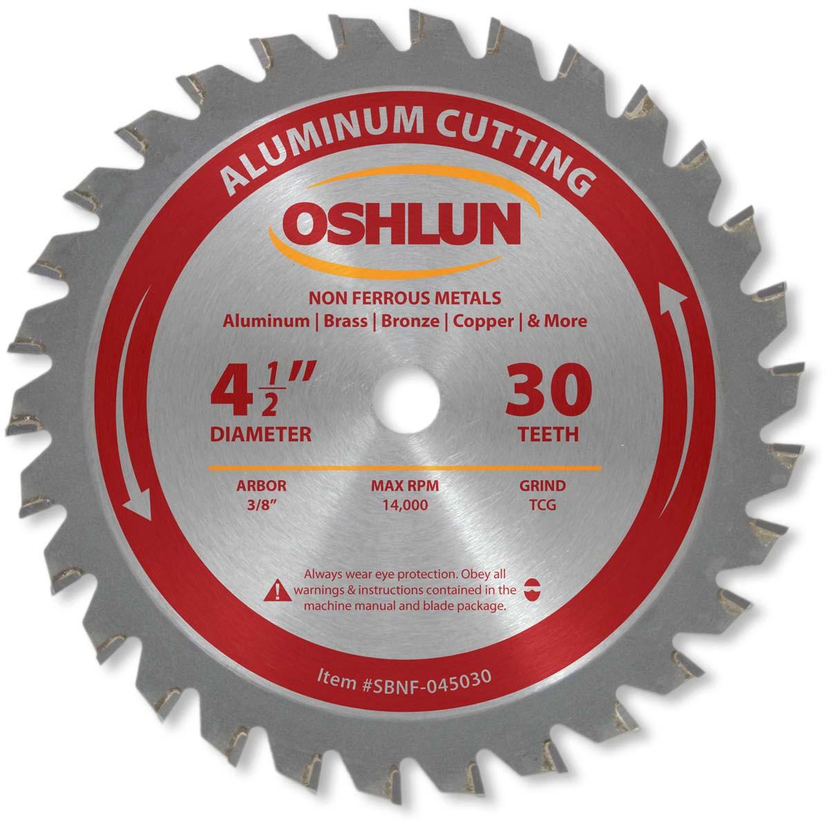 "OSHLUN  SBNF-072540  7-1//4/"" x 40T Aluminum Cutting Saw Blade"