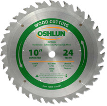 Oshlun SBW-100024 10-Inch 24 Tooth ATB Ripping Saw Blade with 5/8-Inch Arbor