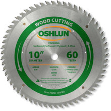 Oshlun SBW-100060 10-Inch 60 Tooth ATB Finishing Saw Blade with 5/8-Inch Arbor