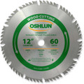 Oshlun SBW-120060 12-Inch 60 Tooth 4 and 1 Combination Saw Blade with 1-Inch Arbor
