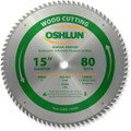 Oshlun SBW-150080 15-Inch 80 Tooth ATB General Purpose Saw Blade with 1-Inch Arbor